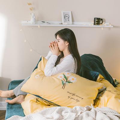 2019新款-治愈系秋冬棉绒四件套 床单款三件套1.2m(4英尺)床 小雏菊