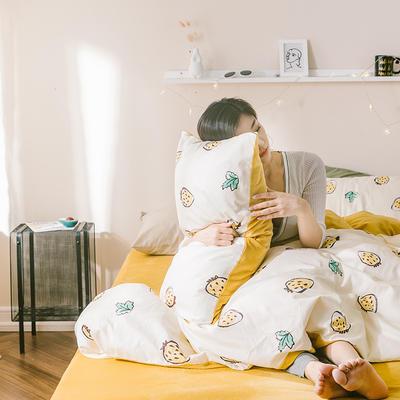 2019新款-治愈系秋冬棉绒四件套 床单款三件套1.2m(4英尺)床 小家碧玉