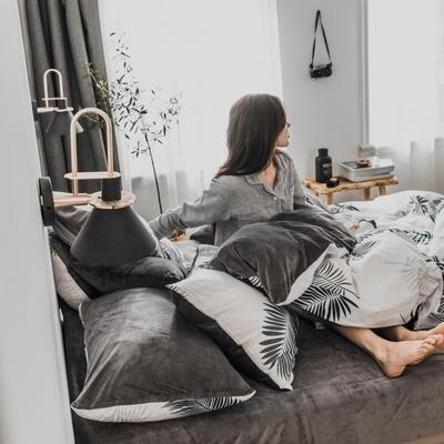 2019新款-治愈系秋冬棉绒四件套 床单款三件套1.2m(4英尺)床 怀念青春