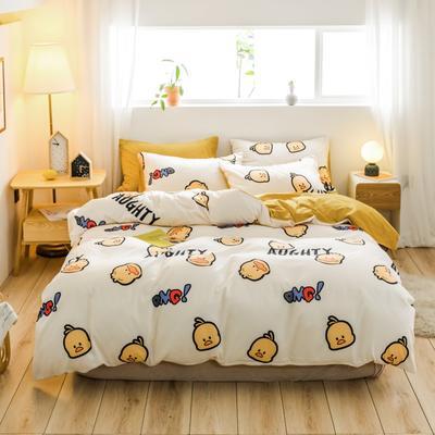 2019新款-治愈系秋冬棉绒四件套(B组风格) 床单款三件套1.2m(4英尺)床 OMG