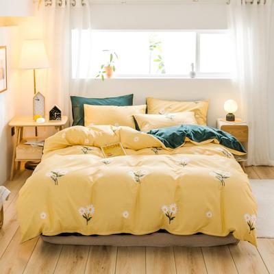 2019新款-治愈系秋冬棉绒四件套(B组风格) 床单款三件套1.2m(4英尺)床 小雏菊