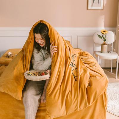 2019新款-婴儿绒绣花款四件套 床单款2.0m(6.6英尺)床 炫慕倾城