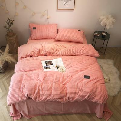 2019新款-魔法绒实拍图 床单款1.5m(5英尺)床 公主粉