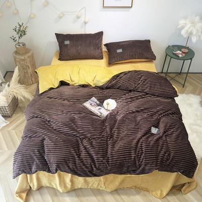 2019新款-魔法绒实拍图 床单款1.5m(5英尺)床 咖姜黄