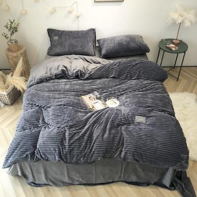 2019新款-魔法绒实拍图 床单款1.5m(5英尺)床 深灰