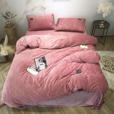 2019新款-魔法绒实拍图 床单款1.5m(5英尺)床 胭脂红