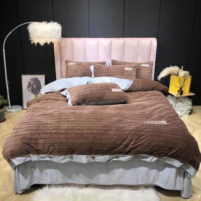 2019新款-暖绒绒实拍 床单款1.5m(5英尺)床 暖绒绒咖
