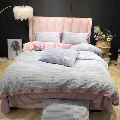2019新款-暖绒绒实拍 床单款1.8m(6英尺)床 暖绒绒浅灰