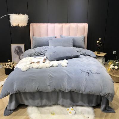 2019新款-婴儿绒实拍图 床单款2.0m(6.6英尺)床 星际灰