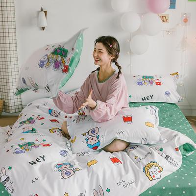2020新款-日系呆萌卡通系列四件套电子图 床单款三件套1.2m(4英尺)床 A疯狂动物城