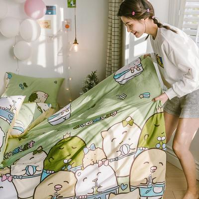 2020新款-日系呆萌卡通系列四件套电子图 床单款三件套1.2m(4英尺)床 A可爱多