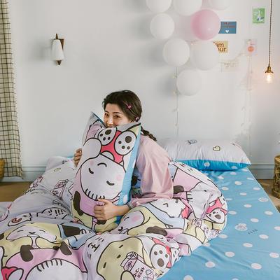 2020新款-日系呆萌卡通系列四件套电子图 床单款三件套1.2m(4英尺)床 A快乐家族