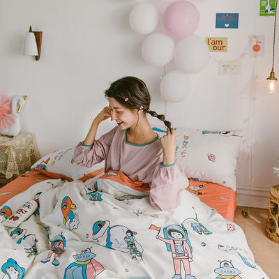 2020新款-日系呆萌卡通系列四件套电子图 床单款三件套1.2m(4英尺)床 A未来之梦