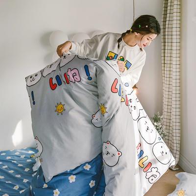 2020新款-日系呆萌卡通系列四件套电子图 床单款三件套1.2m(4英尺)床 A小可爱