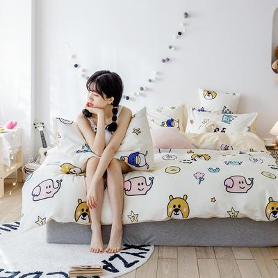 2020新款-日系呆萌卡通系列四件套电子图 床单款三件套1.2m(4英尺)床 游乐园