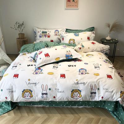 2020新款-日系呆萌卡通系列四件套实拍图 床单款三件套1.2m(4英尺)床 疯狂动物城