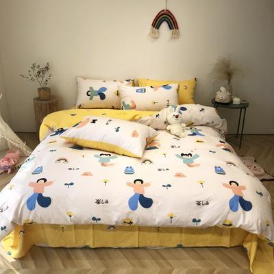 2020新款-日系呆萌卡通系列四件套实拍图 床单款三件套1.2m(4英尺)床 小仙女