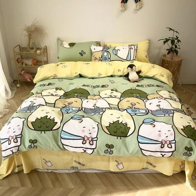2020新款-日系呆萌卡通系列四件套实拍图 床单款三件套1.2m(4英尺)床 可爱多