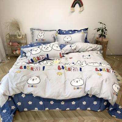 2020新款-日系呆萌卡通系列四件套实拍图 床单款三件套1.2m(4英尺)床 小可爱