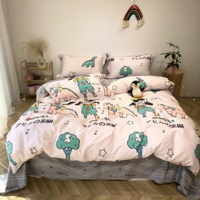 2020新款-日系呆萌卡通系列四件套实拍图 床单款三件套1.2m(4英尺)床 元气少女