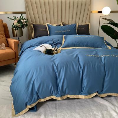 2020新款-梦想系列四件套实拍图 床单款四件套1.5m(5英尺)床 梦想-宾利蓝