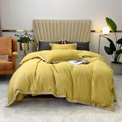 2020新款-梦想系列四件套实拍图 床单款三件套1.2m(4英尺)床 梦想-黄色