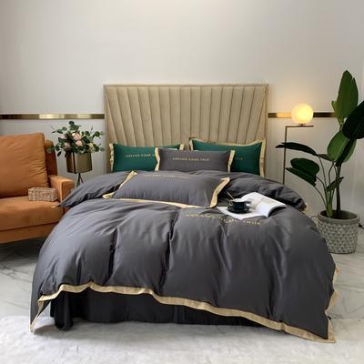 2020新款-梦想系列四件套实拍图 床单款三件套1.2m(4英尺)床 梦想-深灰