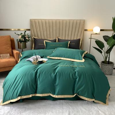 2020新款-梦想系列四件套实拍图 床单款三件套1.2m(4英尺)床 梦想-祖母绿