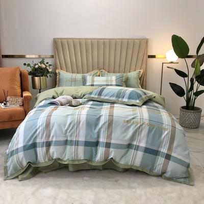 2020新款-梦想系列四件套实拍图 床单款三件套1.2m(4英尺)床 抹茶风