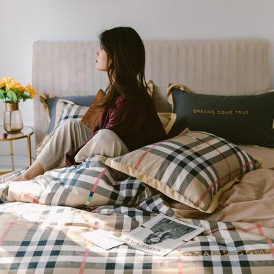 2020新款-梦想系列四件套模特图 床单款三件套1.2m(4英尺)床 宝莉格