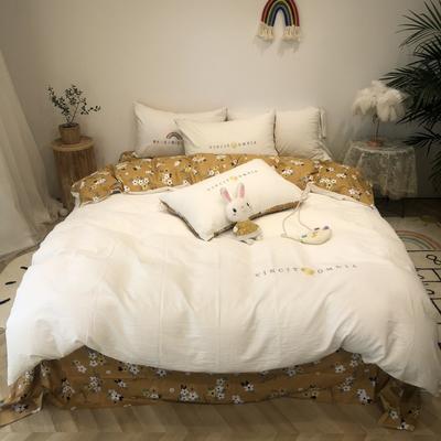 2020新款-水洗棉绣花系列四件套 床单款三件套1.2m(4英尺)床 芬芳