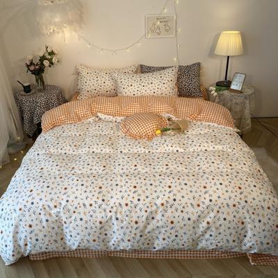 2020新款-韩版ins复古小碎花系列四件套 床单款三件套1.2m(4英尺)床 春暖花开花边款