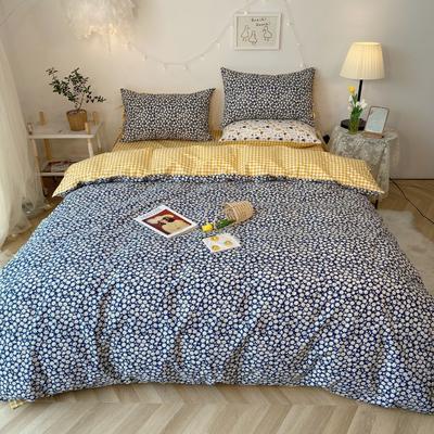 2020新款-韩版ins复古小碎花系列四件套 床单款四件套1.5m(5英尺)床 太阳菊花边款