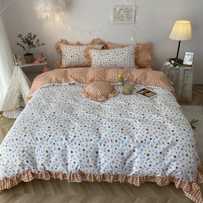 2020新款-韩版ins复古小碎花系列四件套 床单款三件套1.2m(4英尺)床 春暖花开基础版