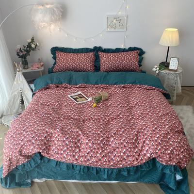 2020新款-韩版ins复古小碎花系列四件套 床单款四件套1.5m(5英尺)床 复古小花基础版