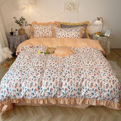 2020新款-韩版ins复古小碎花系列四件套 床单款四件套1.5m(5英尺)床 花涧集基础版