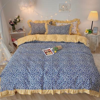 2020新款-韩版ins复古小碎花系列四件套 床单款三件套1.2m(4英尺)床 太阳菊基础版