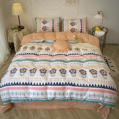 2020福利款-ins网红小清新四季款四件套 床单款三件套1.2m(4英尺)床 波西小花花