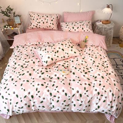 2020福利款-ins网红小清新四季款四件套 床单款三件套1.2m(4英尺)床 静待花开