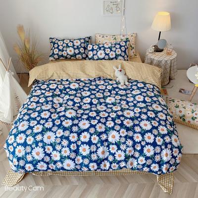 2020福利款-ins网红小清新四季款四件套 床单款三件套1.2m(4英尺)床 蓝雏菊