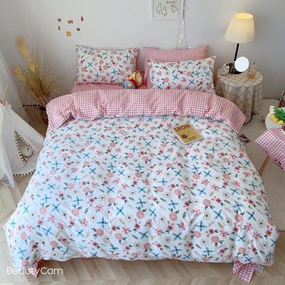 2020福利款-ins网红小清新四季款四件套 床单款三件套1.2m(4英尺)床 蔷薇
