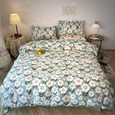 2020福利款-ins网红小清新四季款四件套 床单款三件套1.2m(4英尺)床 清新淡雅-绿