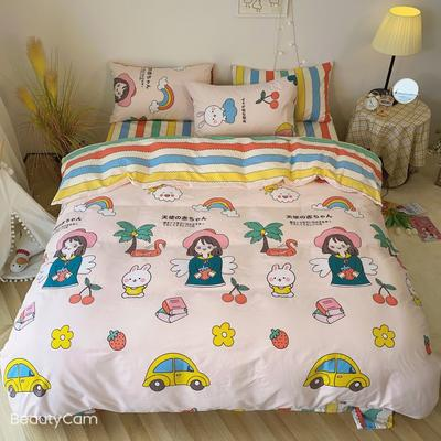 2020福利款-ins网红小清新四季款四件套 床单款三件套1.2m(4英尺)床 天使的女孩