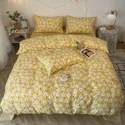 2020福利款-ins网红小清新四季款四件套 床单款三件套1.2m(4英尺)床 迎春花