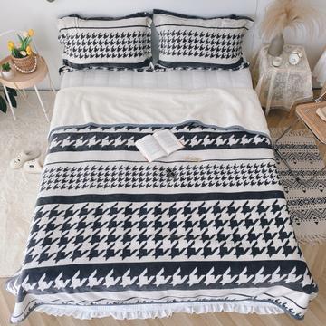 2020新款-双面牛奶绒羊羔绒复合盖毯午睡毯毛毯