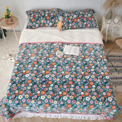 2020新款-双面牛奶绒羊羔绒复合盖毯午睡毯毛毯 120*200cm 遇见
