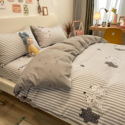 2021春夏新款-全棉小资生活系列四件套影棚图 1.2m床单款三件套 5安迪小熊