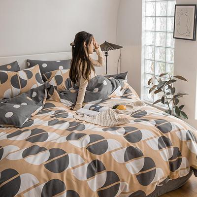 2021新款-春夏北欧系列四件套 1.5m床单款四件套 美妙空间