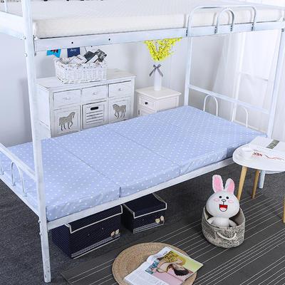 5CM厚印花款4折叠床垫 60*190CM 蔚蓝