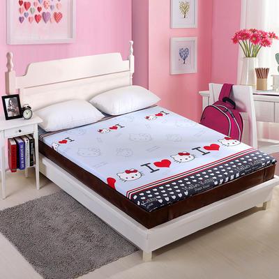 钻石绒海绵床垫大床床垫 150*200cm 钻石绒布套KT猫